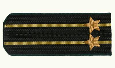 Погоны Береговая охрана ПС ФСБ вышитые Капитан 2 ранга повседневные
