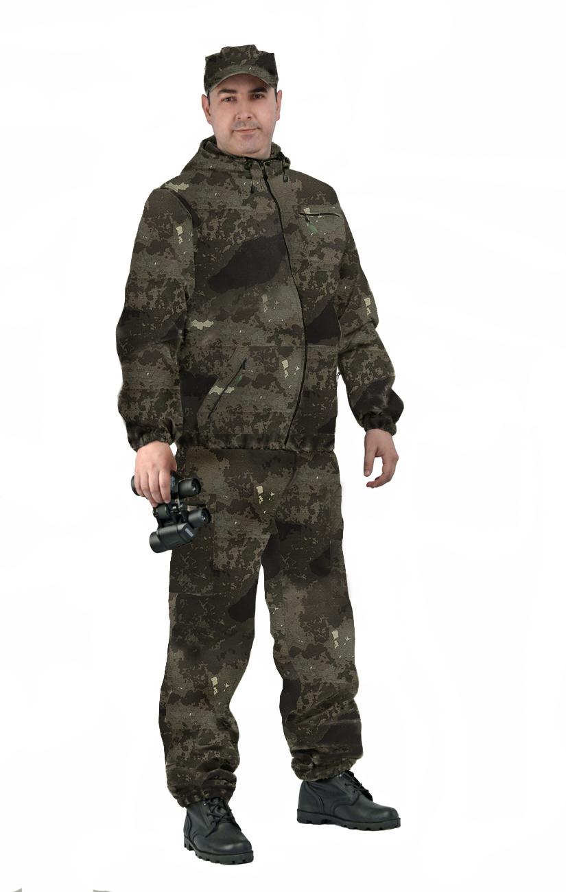 Костюм мужской Турист 1 летний, камуфляж, ткань грета Атакс Нью, Летние костюмы - арт. 1036460260