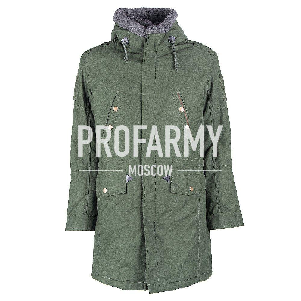 Куртка офисная Аляска зимняя зеленая