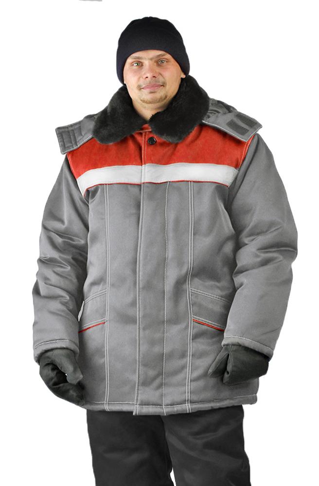 Купить Куртка зимняя УРАЛ цвет: светло-серый, Ursus