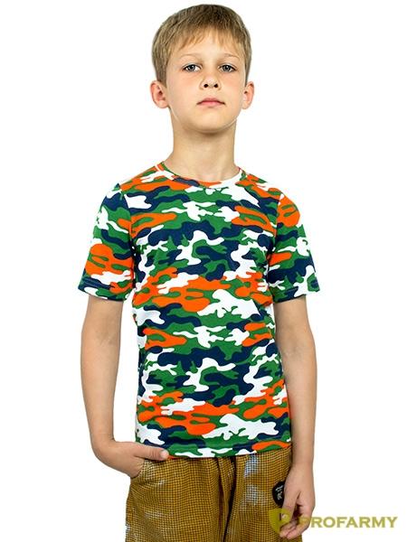 Футболка детская Orange Camo длинный рукав