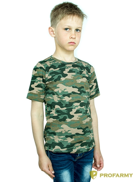 Купить Футболка детская Brown Camo короткий рукав, PROFARMY
