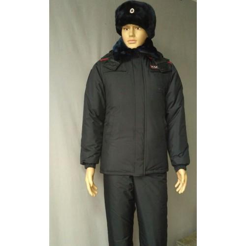Куртка Полиция зимняя удлиненная (фольга/мембрана/холофайбер), Форменные куртки и плащи - арт. 1019390331