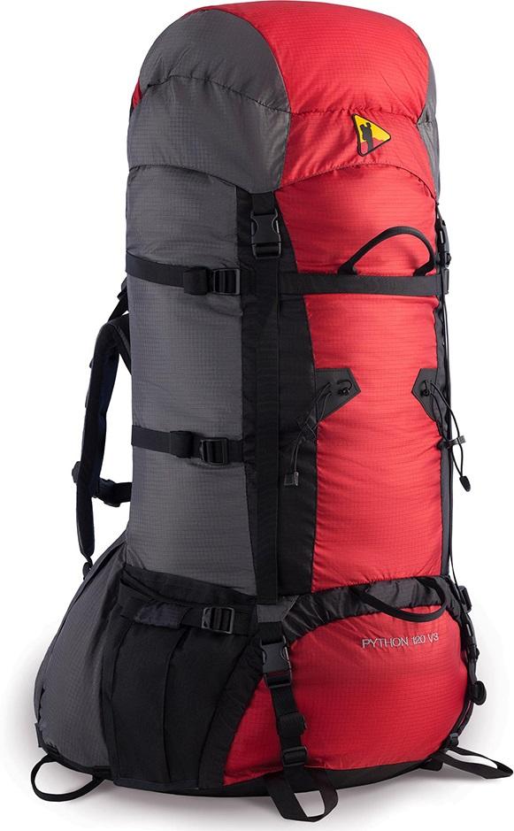 Рюкзак BASK PYTHON 120 V3 черн/серый тмн/красный, Рюкзаки для горных лыж и сноуборда - арт. 303410286
