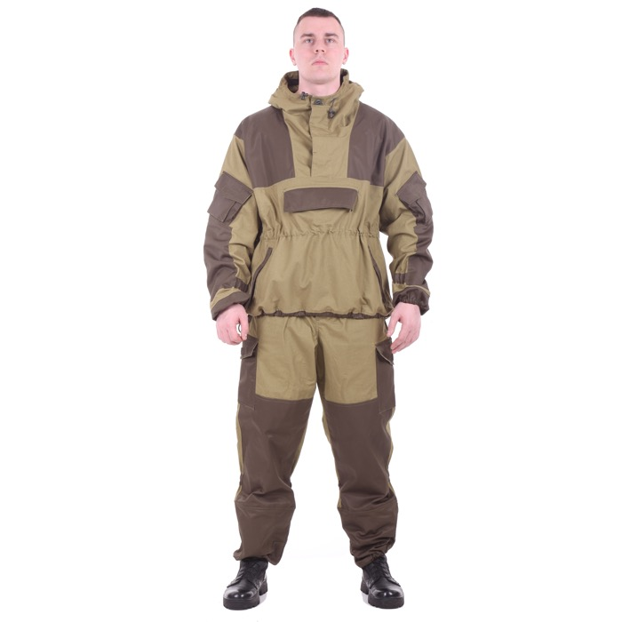 Костюм Горка-4 анорак хаки с накладками олива, Куртки - арт. 983750156