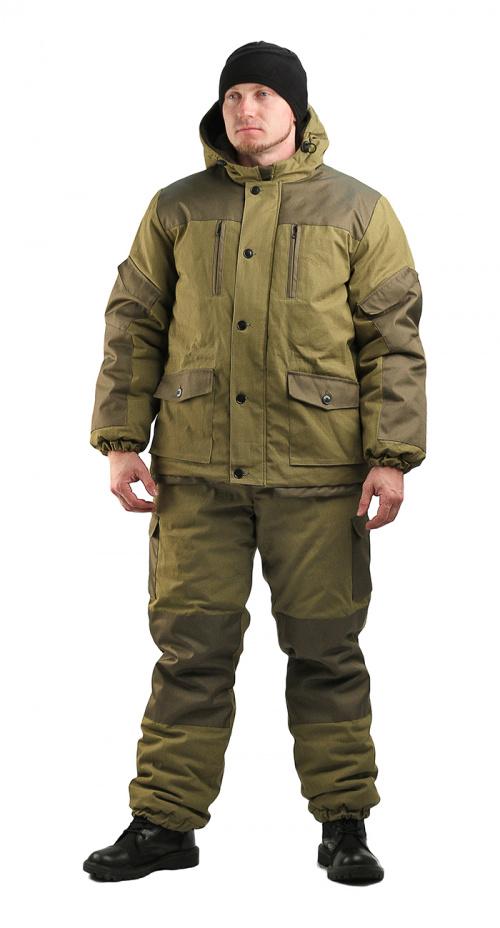 Купить Костюм мужской Горка 3 зима, ткань палатка/оксфорд, цвет хаки, синтепон+флис, Ursus