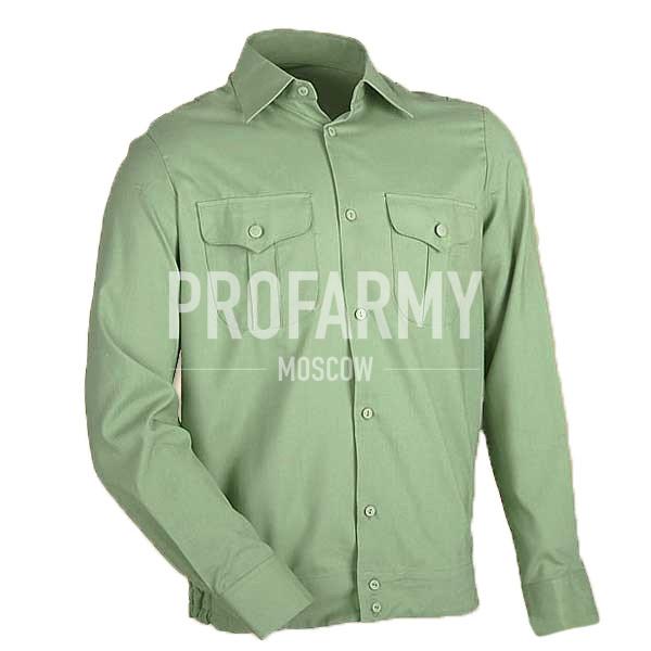 Рубашка форменная, длинный рукав, зеленый