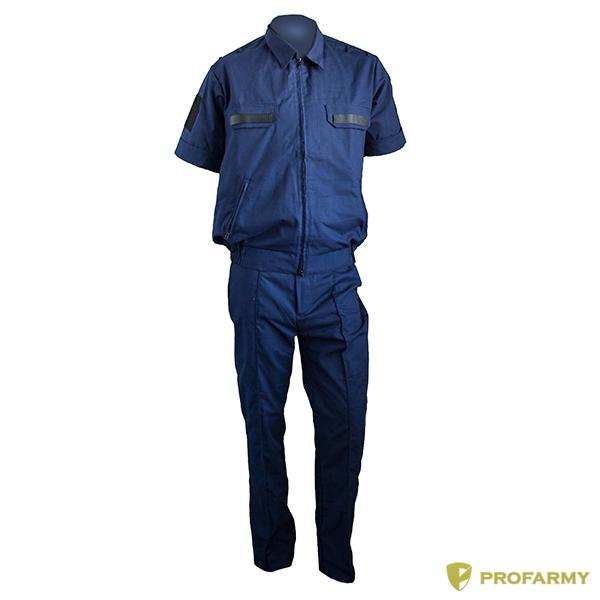 Купить Костюм офисный Тип А синий рип-стоп с коротким рукавом, PROFARMY