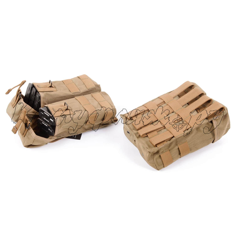 Подсумок KE под АК патрульный двойной с бесшумной застежкой со стропами coyote, Прочее - арт. 986860199