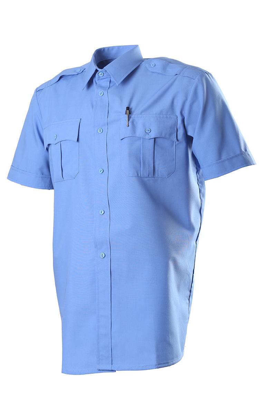 Купить Сорочка, короткий рукав, Сорочечная голубая 526, ОКРУГ