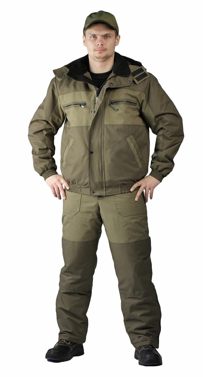 Купить Костюм зимний ВИХРЬ куртка/полукомб. цвет: св.хаки/т.хаки, ткань : Кошачий глаз, Ursus