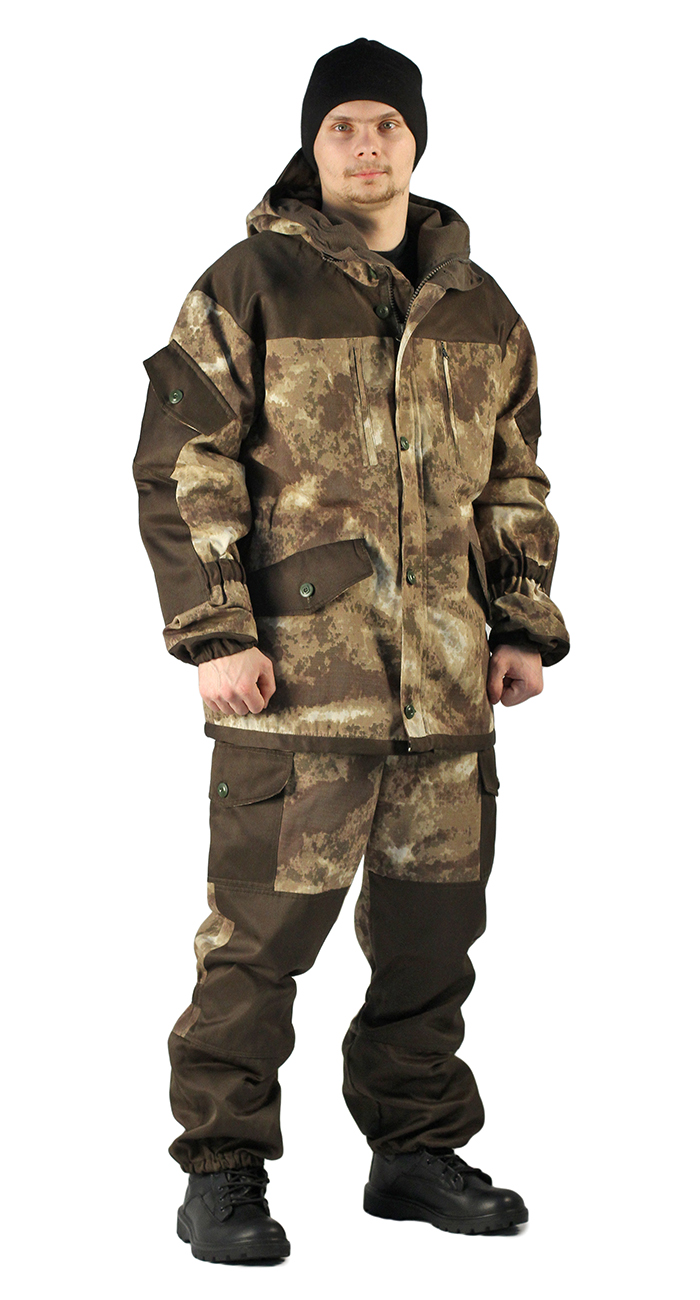 Купить Костюм демисезонный ГОРКА куртка/брюки, цвет: кмф Облака бежевый, ткань: Твил рип-стоп/Грета, Ursus