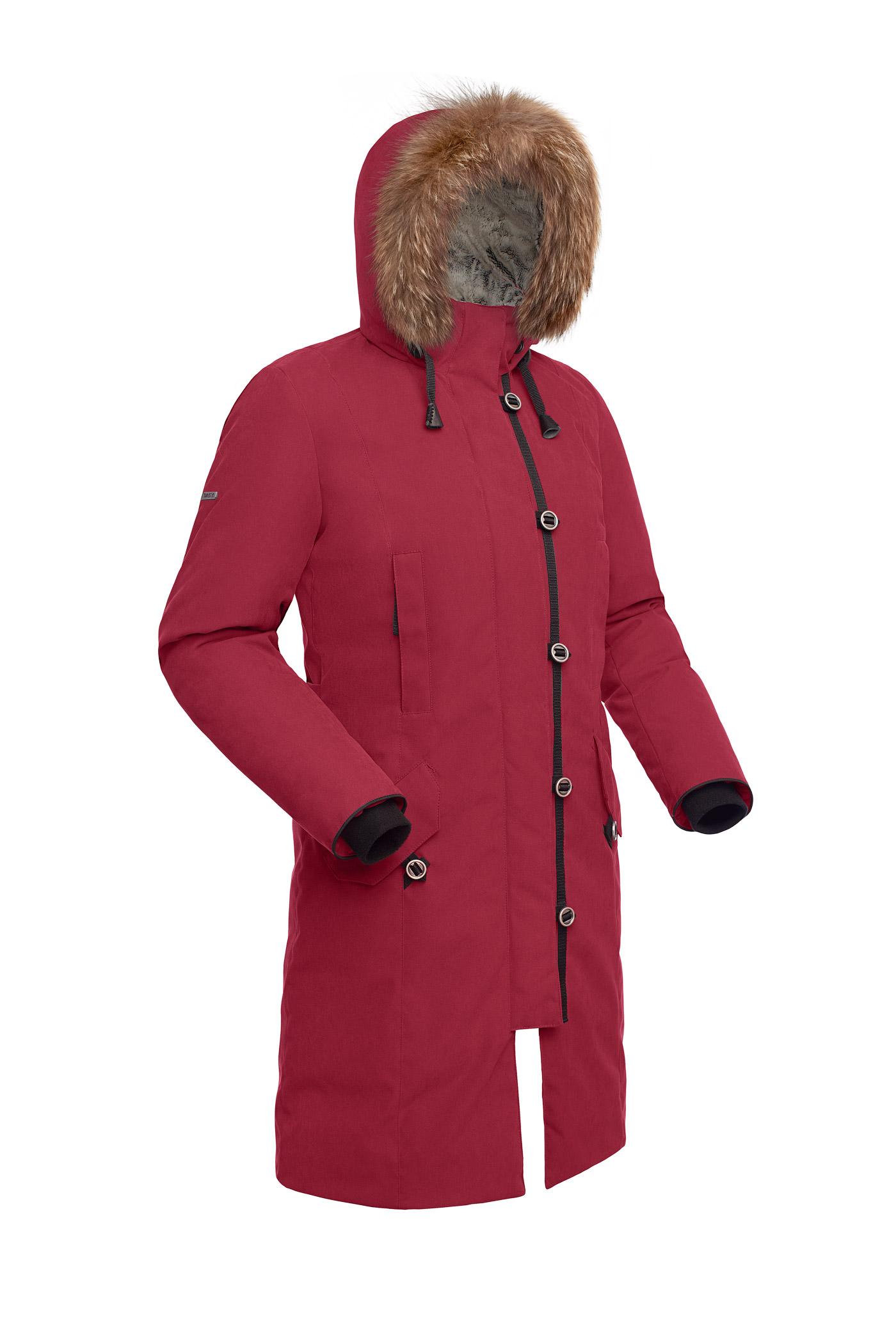 Пальто пуховое женское BASK HATANGA V2 бордо, Пальто - арт. 971250409