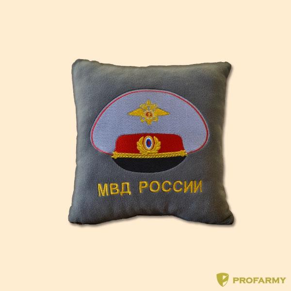 Подушка сувенирная с вышивкой МВД, Постельные принадлежности - арт. 908160397