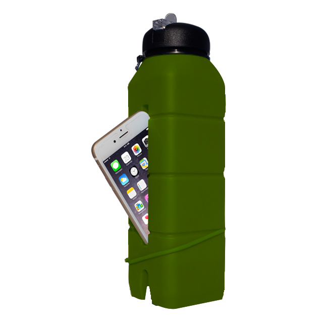 Бутылка-динамик из силикона Ace Camp Silicone Sound Bottle 1582 Олив/769мл - артикул: 816230196