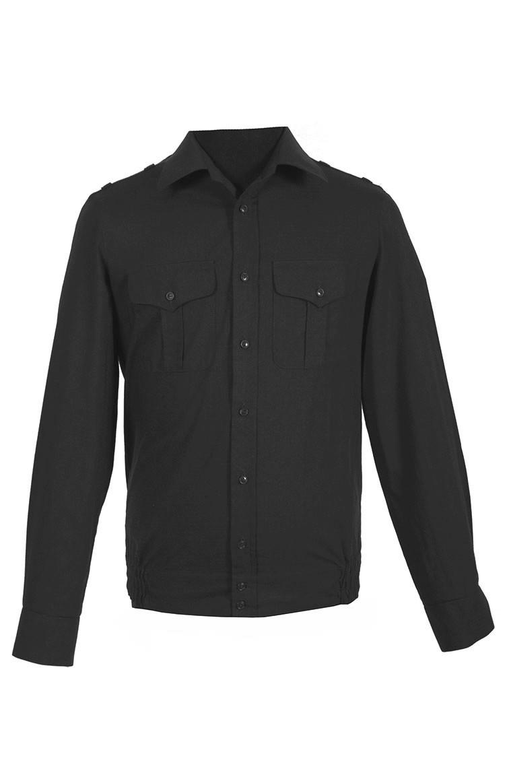 Рубашка офисная ВКС синяя рип-стоп