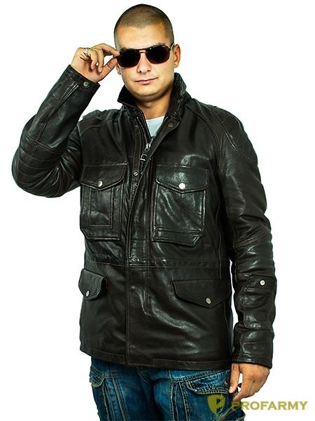 Куртка кожаная МК/17-2К Emora Chocolate, Демисезонные куртки - арт. 1052810334