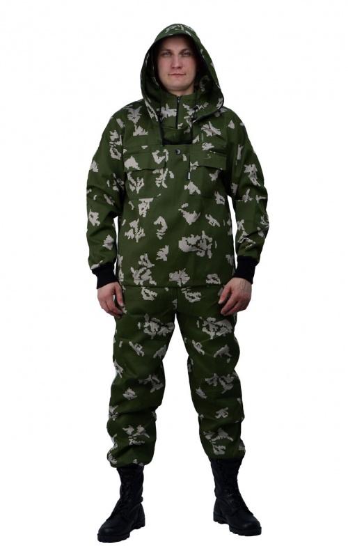 Костюм противоэнцефалитный летний, ткань тиси сорочечная-облегченная, камуфляж Граница зеленая - артикул: 801320241