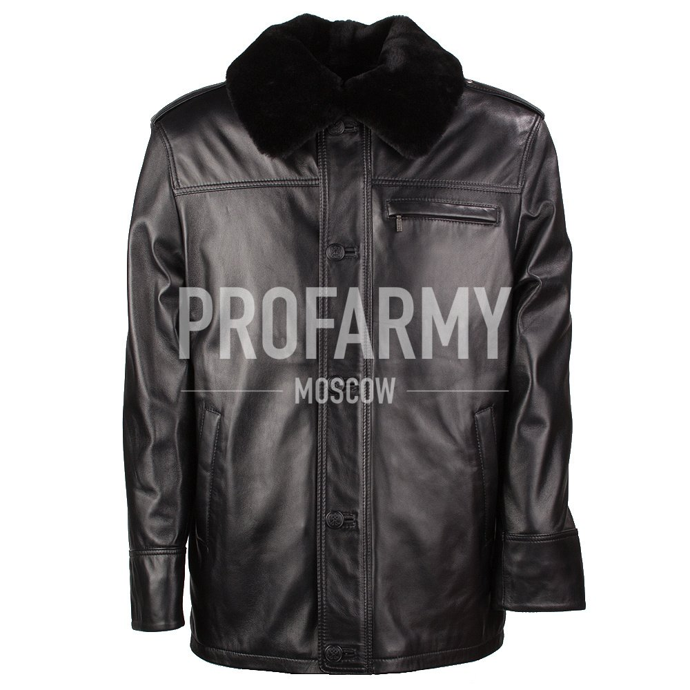 Купить Куртка мужская из натуральной кожи СК Nappa Black, PROFARMY
