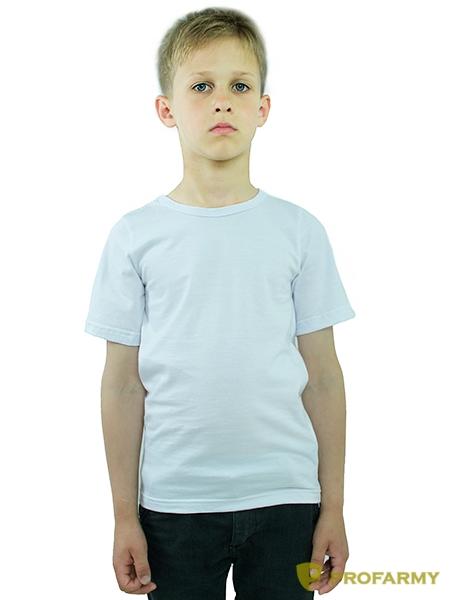 Футболка детская белая короткий рукав