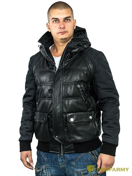 Куртка кожаная МК/17-3К Emora Black, Демисезонные куртки - арт. 1052820334