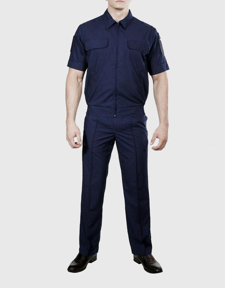 Костюм летний Росгвардия с коротким рукавом габардин, Форменные костюмы - арт. 1020420247
