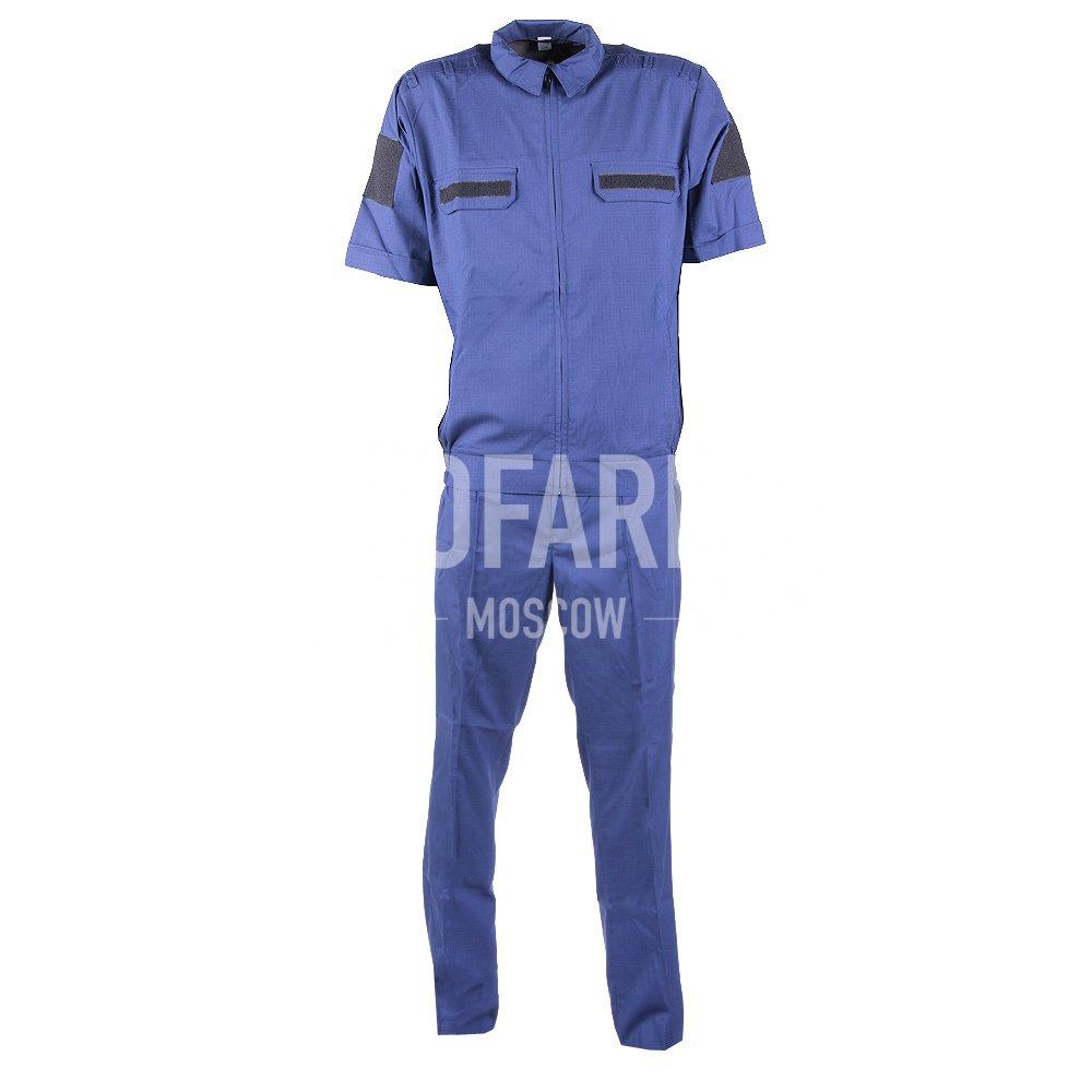 Костюм офисный ВКС короткий рукав, RipStop 170 (синий), Форменные костюмы - арт. 864510247