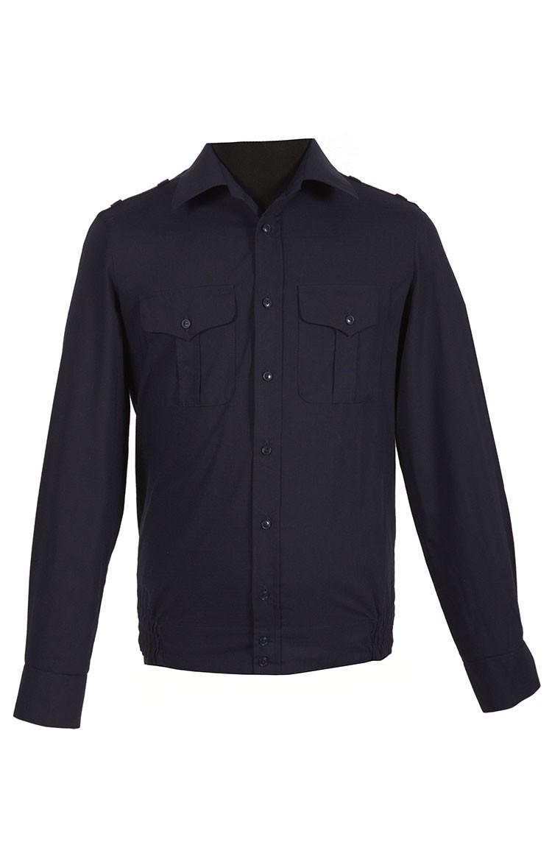 Рубашка офисная ВМФ черная рип-стоп