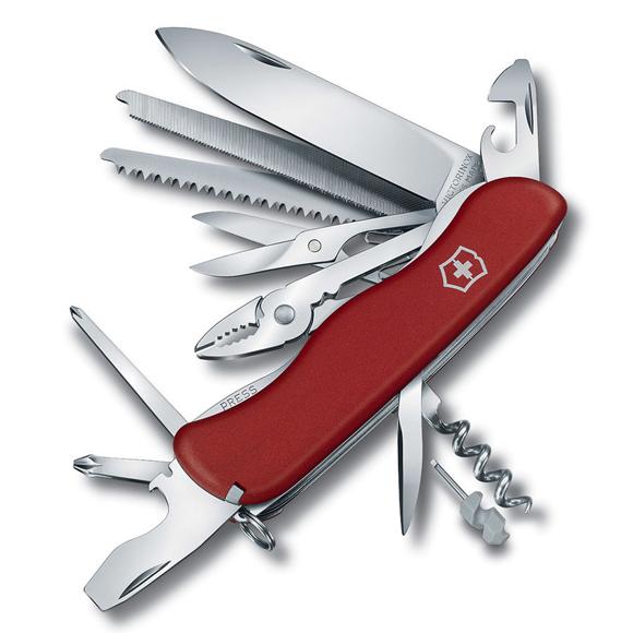 Купить Нож перочинный Victorinox WORK CHAMP (0.8564) 111 мм 21 функций красный