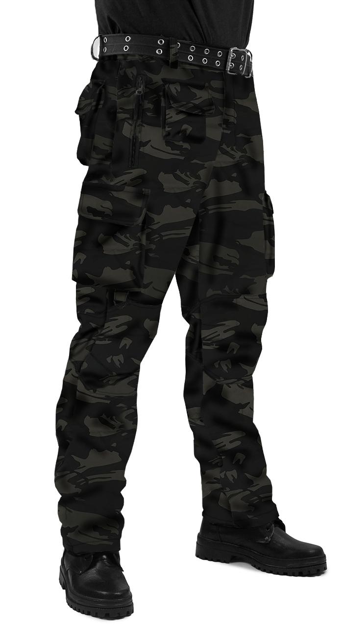 Брюки мужские Gerkon Commando летние, камуфляж т.Твил 210 гр. Чёрная кукла, Тактические брюки - арт. 1030810344