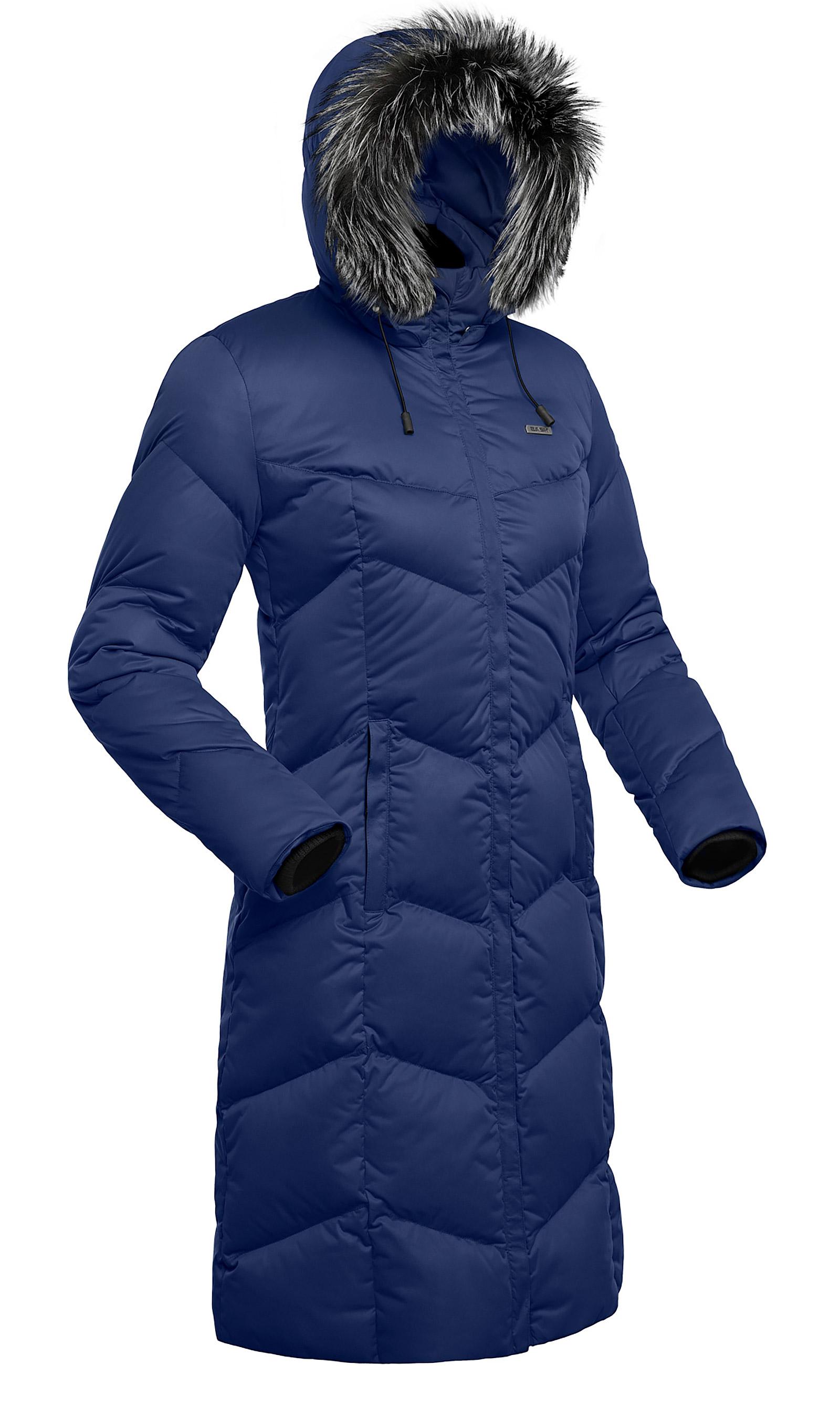 Пальто пуховое женское BASK SNOWFLAKE темно-синее, Пальто - арт. 853240409