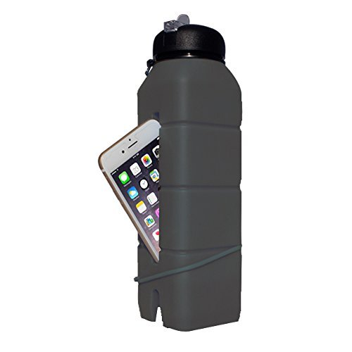 Бутылка-динамик из силикона Ace Camp Sound Bottle 1584 Серая/769мл - артикул: 816250196