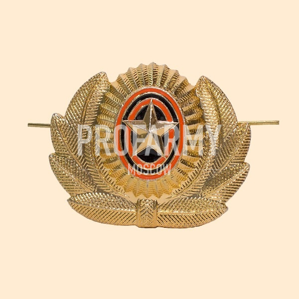 Кокарда РА большая золото металл ФМ-10