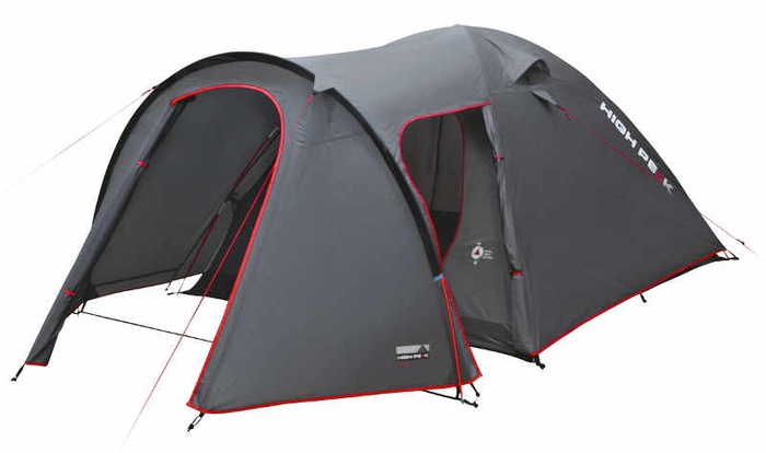 Палатка Kira 3 темно-серый/красный 180х330см, 10214, Палатки трехместные - арт. 1145340321