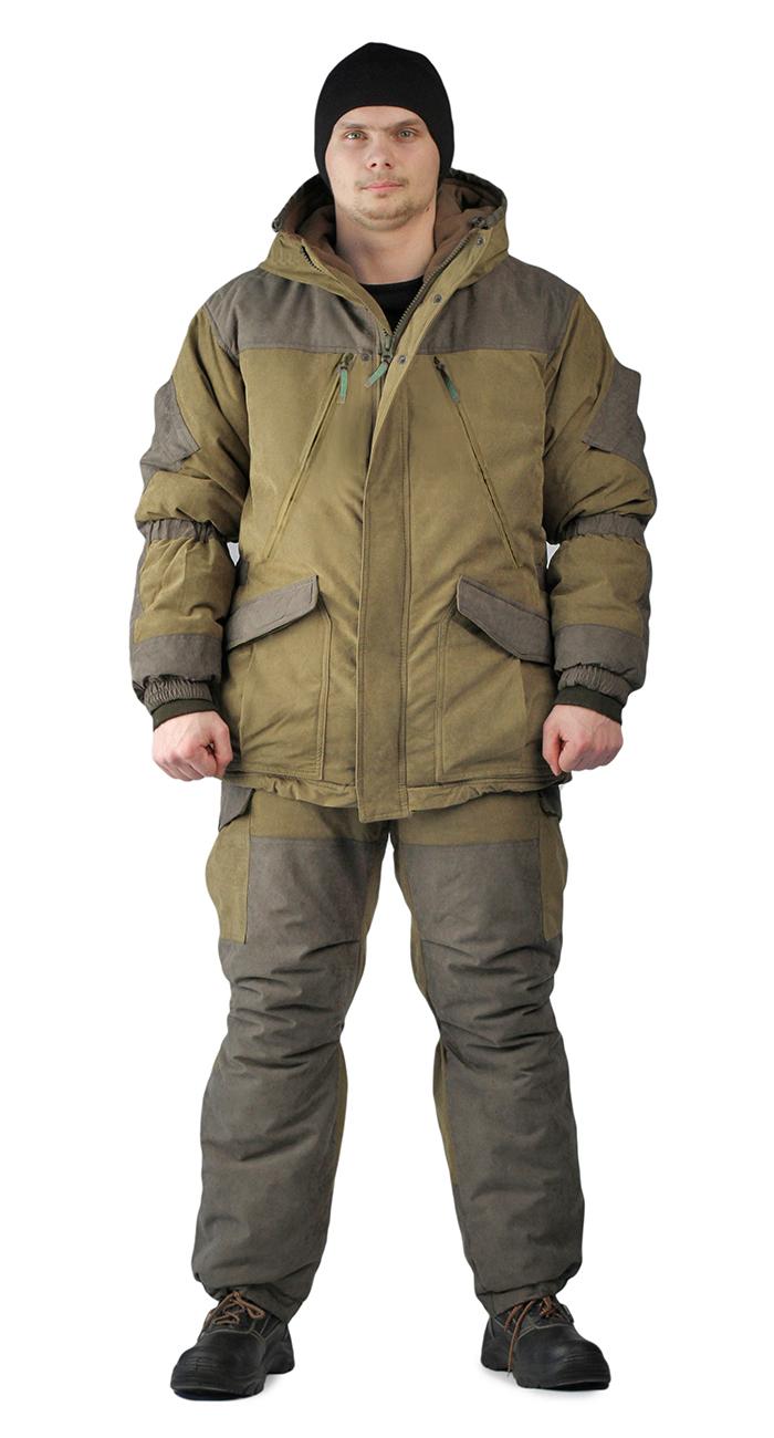 Костюм зимний ГЕРКОН куртка/брюки, цвет: светлый хаки/темный хаки, ткань : Финляндия, Зимние брюки и полукомбинезоны - арт. 1124090348