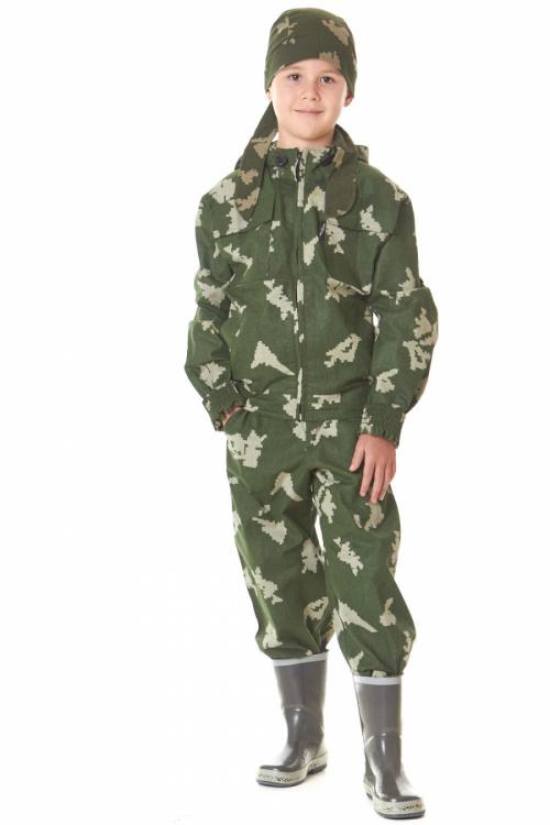 Костюм детский  Маскхалат , ткань сорочечная, пл.140гр., 100% хлопок., Халаты - арт. 825680233