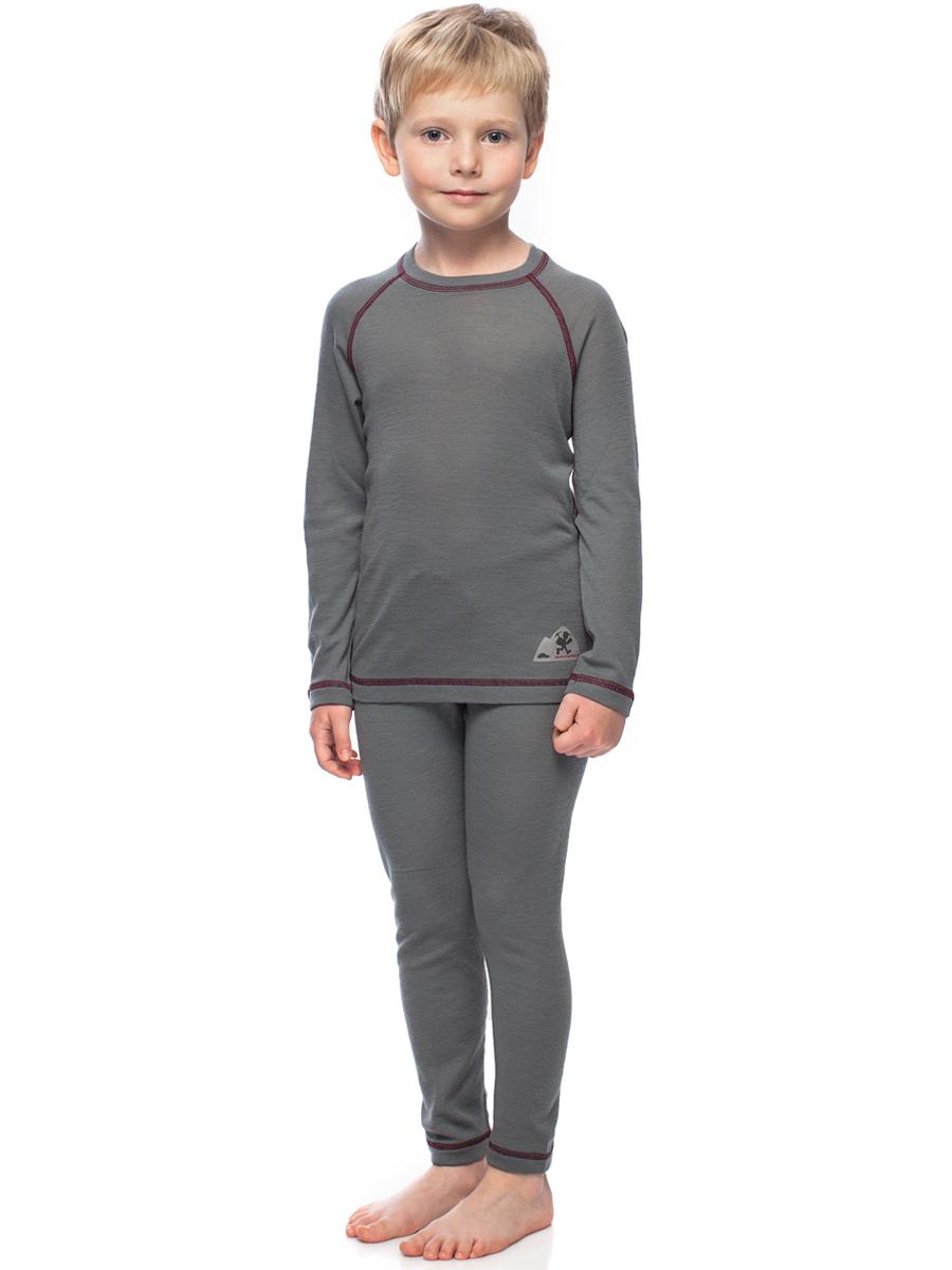 Купить Термобелье футболка с длинным рукавом детская BASK kids MERINO WOOL U SLEEVE серая, Компания БАСК
