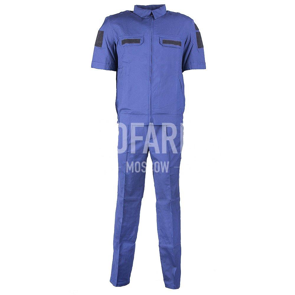 Костюм Штабной короткий рукав(син), панацея рип-стоп, Форменные костюмы - арт. 862960247