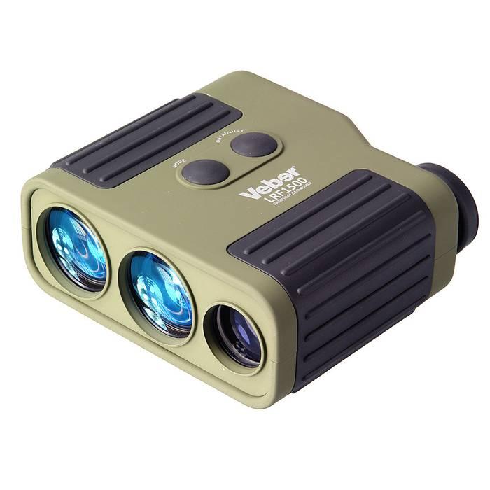 Лазерный дальномер Veber 7x25 LRF1500 green, Прицелы и дальномеры - арт. 763230442