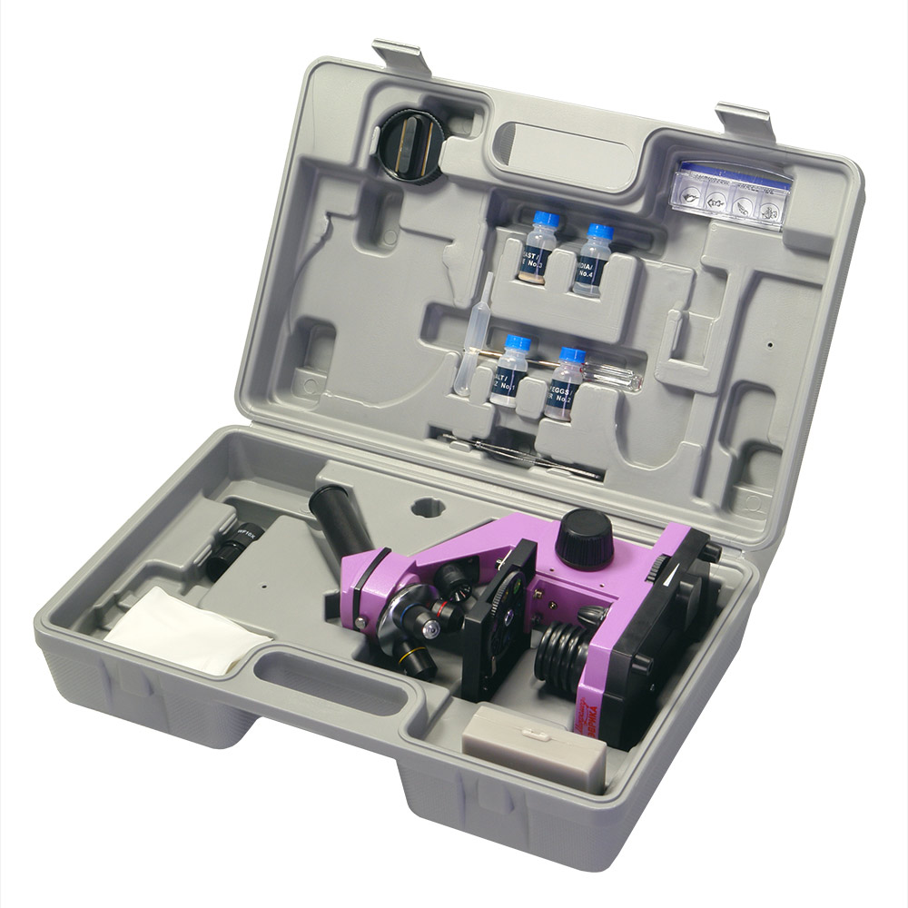 Микроскоп школьный Эврика 40х-400х в кейсе (аметист), Микроскопы/лупы - арт. 889280443