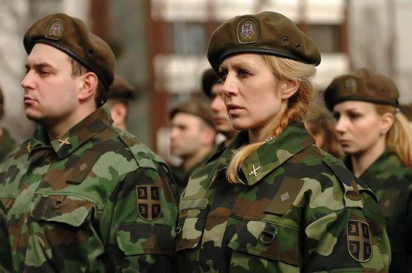 красивые сербки в армии фото бортом официальной