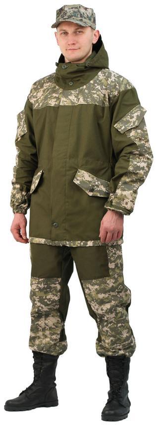 Купить Костюм мужской Горка 3 палатка хаки 100% хлопок / рип-стоп Зеленая цифра, Ursus