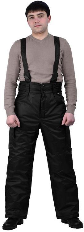 Брюки мужские  Охрана  зимние черные, Зимние брюки и полукомбинезоны - арт. 521190348