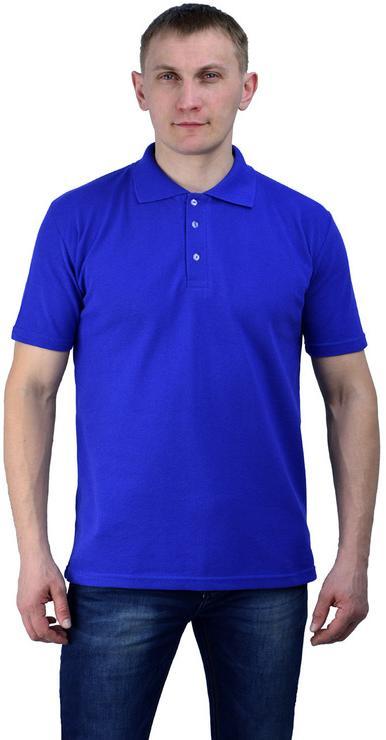 Рубашка-поло васильковая