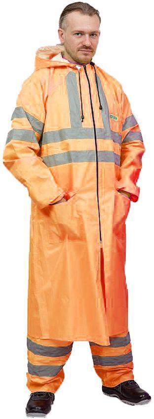 Плащ ВВЗ сигнальный/«Extra Vision WPL» нейлоновый оранжевый