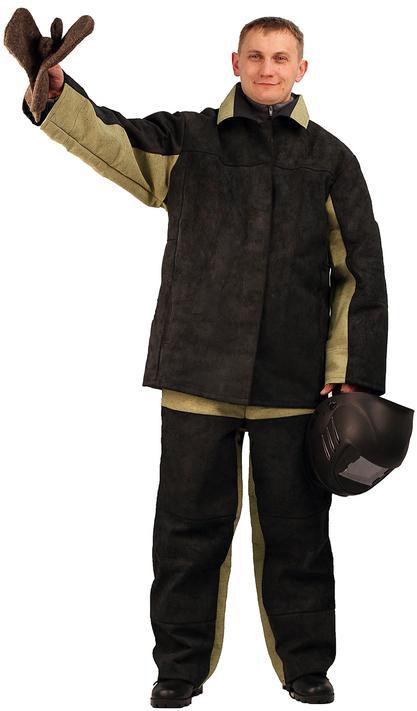 Костюм  Сварщик  зимний брезентовый со спилком, Костюмы сварщика - арт. 522630246