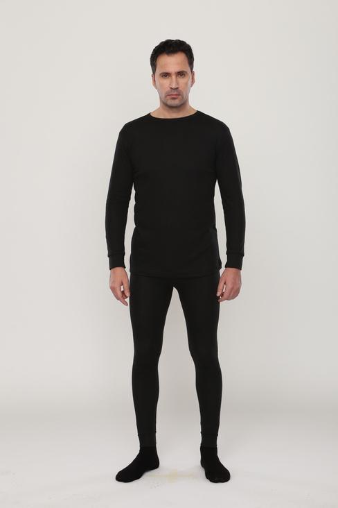 Термобельё Лимес для средней активности, кальсоны и рубашка, черное