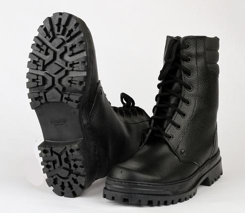 Ботинки с высоким берцем ARMY хром на натуральном меху, Ботинки с высокими берцами - арт. 521020245
