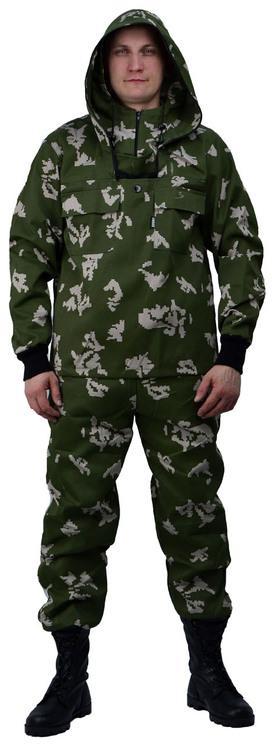 Костюм противоэнцефалитный летний, ткань грета, камуфляж Граница зеленая