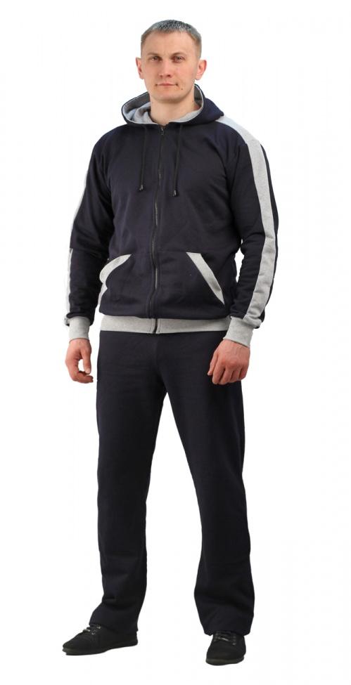 Купить Костюм трикотажный ТИР-2 темно-синий с серым (куртка + брюки 100%х/б), Ursus